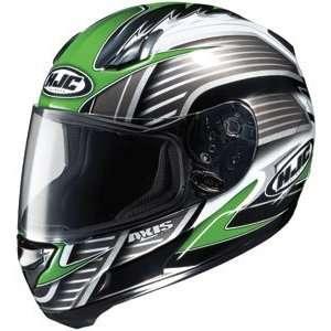 HJC AC 12 Axis MC 4 Full Face Motorcycle Helmet Green XXL