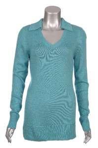 Sutton Studio Womens Silk & Cashmere Casual Split Neck Polo Tunic