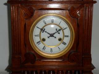 Large 8 Day Striking Carved Case Bracket Clock |