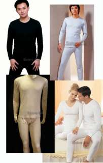 Mens 100% Silk Long John Set/Thermal Underwear #SU204
