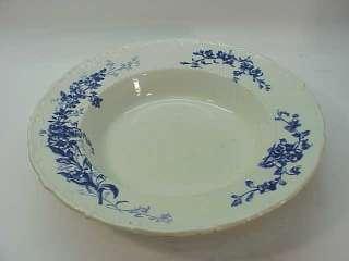 ANTIQUE WEDGWOOD FLOW BLUE~HUGE 13 BOWL~FLORAL england