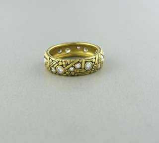 ALEX SEPKUS 18K YELLOW GOLD DIAMOND 6mm BAND RING $4625