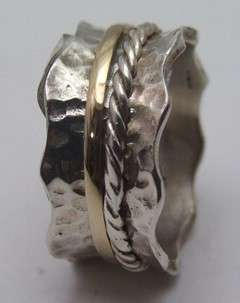 925 silver gold spinning motion ring rings designs wedding jewelry