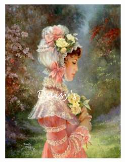 Lovely Lady Fabric Applique Quilt Block 8975