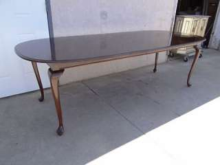 Ethan Allen Georgian court solid cherry dining room table