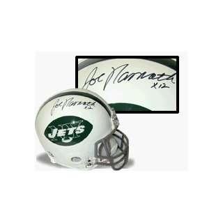 Joe Namath Hand Signed Jets Helmet