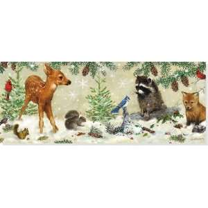 Forest Friends Panoramic Boxed Holiday Cards (Christmas Cards, Holiday