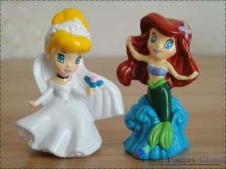 Princess Cake Topper Figures Snow White Cinderella Mermaid Aurora