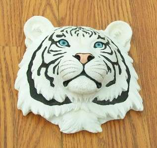 NEW SIBERIAN WHITE TIGER HEAD WALL MOUNT SAFARI DECOR