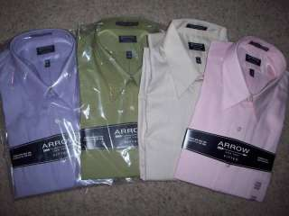 Arrow Fitted Mens Dress Shirt in Various Sz/Colors NICE