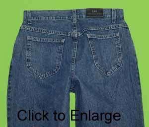 Lee sz 8M 8 Medium x 32 Womens Blue Jeans Denim Pants FM28