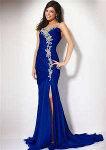 Long blue formal prom dress/ball gown/bride dress/party Size 6 8 10 12