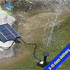NEW SOLAR FOUNTAIN PUMP WATER POOL FEATURE POND GARDEN HOME KIT