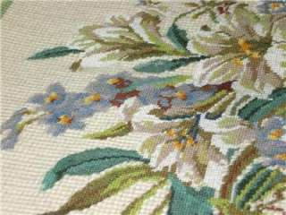 Completed Needlepoint Canvas Tapestry Lily Floral Petit Point