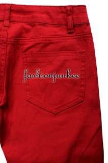 RED COPB181 PLUS SIZE Skinny Jeans Moleton Colored Denim Stretch