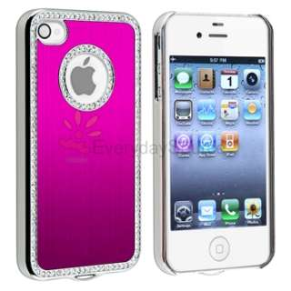 Pink Luxury Diamond Case+PRIVACY FILTER for Sprint Verizon AT&T iPhone