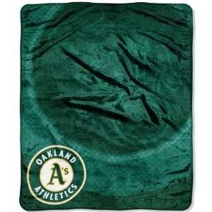 Oakland Athletics As Retro Plush Raschel Throw Blanket