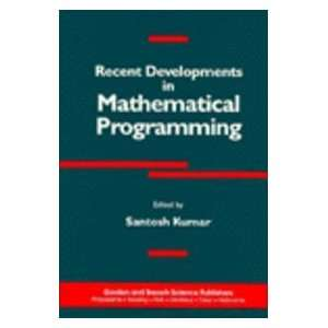 in Mathematical Programming (9782881248009) Santosh Kumar Books