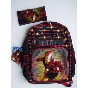 Iron Man Backpack   Full Size   Bonus Pencil Case Toys