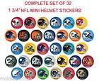 nfl mini football helmet sticker s $ 6 99  see