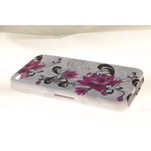 Apple iPhone 4 Hard Case Cover for Purple Lily
