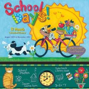 School Days 2012 Pocket Planner Calendar 12 X 12 Office