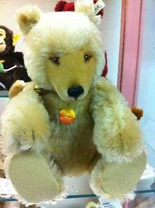 Steiff Watch Display Teddy Bear RARE 18 1991 Mohair