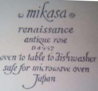 Set (5) Mikasa Renaissance ANTIQUE ROSE Salad Plates