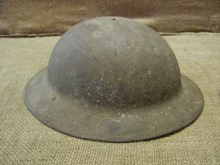 Vintage WWI Army Helmet  Old Antique Military Gear