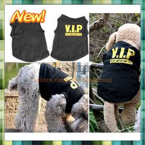 Sale Apparel Dress Puppy Black Pet Dogs Cotton Printed Vest Clothes