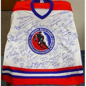 Hockey Hall of Fame Autographed Jersey 68 Signatures