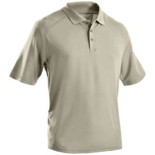 UNDER ARMOUR TACTICAL POLO POLY COTTON BLEND GOLF SHIRT 1216032 BLACK