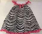 girls zebra print spring summer sundress by rare too size