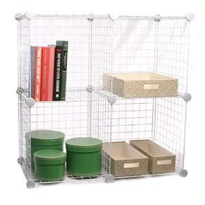 4 Cube Storage Shelving Unit   Modular Mini Grid Cubes