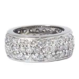 Real Diamond Eternity Wedding Ring Pave Wedding Band White Gold 4 9