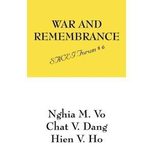 War and Remembrance: SACEI Forum # 6 (9781432746247