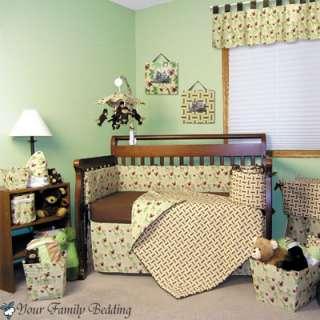 Baby Boy Jungle Monkey Theme Crib Nursery Bedding Set