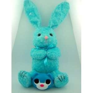 Light Blue Stuffed Animal Easter Bunny Teddy Bear with Candy