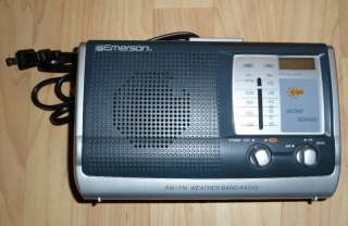 EMERSON AM/FM/WEATHER BAND PORTABLE RADIO (E)