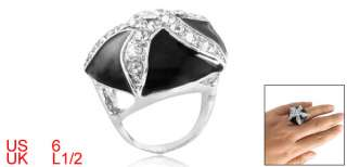 Lady Starfish Rhinestone Jewelry Finger Ring US Size 6