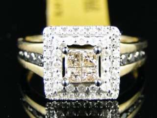 GOLD CHOCOLATE BROWN BLACK DIAMOND FASHION BAND RING 1/2 CT