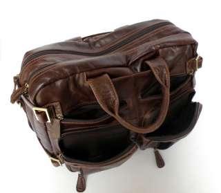 NWT Cowboy Vintage Leather Mens Briefcase Laptop Dispatch Travel