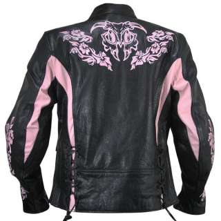Xelement XS2005 Embroidered Ladies Motorcycle Jacket size M
