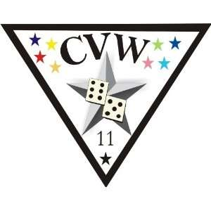 US Navy Carrier Air Wing Eleven CVW11 Decal Sticker 3.8