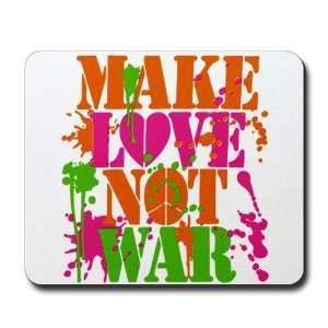 (Mouse Pad) Make Love Not War Peace Symbol Sign
