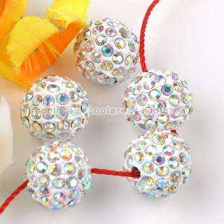 10mm Austrian Crystal Rhinestone Pave Disco Ball Beads Findings Crafts