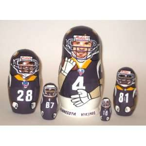 Minnesota Vikings * NFL Football or any team Russian Nesting doll 5