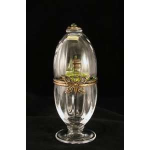 Crystal Egg W Perfume Butterfly Limoges Box 5.5 H