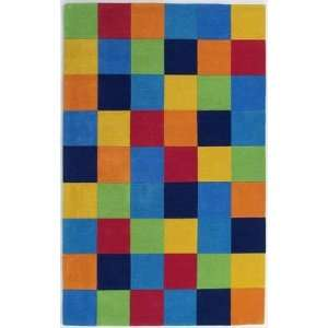 KAS   Kidding Around   416 Boys Color Blocks Area Rug   2