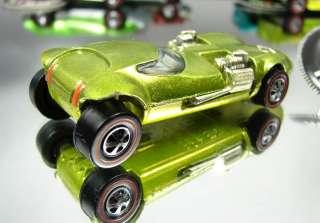 HOTWHEELS REDLINE TWINMILL CAR COLOR LIME GREEN + BADGE BUTTON